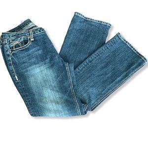 Straight Leg Cotton Jeans.